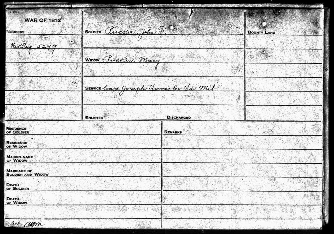 Pension Record John F. Rucker and Mary Rucker