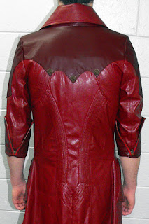 Devil May Cry inspired Dante Coat made with pebbled pleather