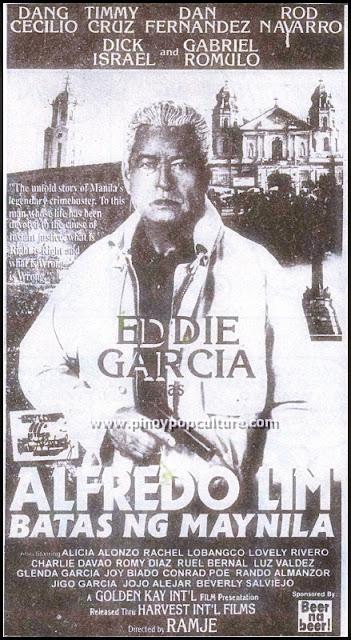 Alfredo Lim, Alfredo Lim Batas ng Maynila, Eddie Garcia