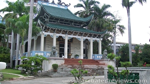 beautiful architecture of Lon Wa Buddhist Temple in Davao City, Philippines