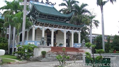 beautiful architecture of Lon Wa Buddhist Temple in Davao City, Philippines