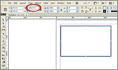 Confirm with Enter key and InDesign will perform math operation and apply changes to selected object
