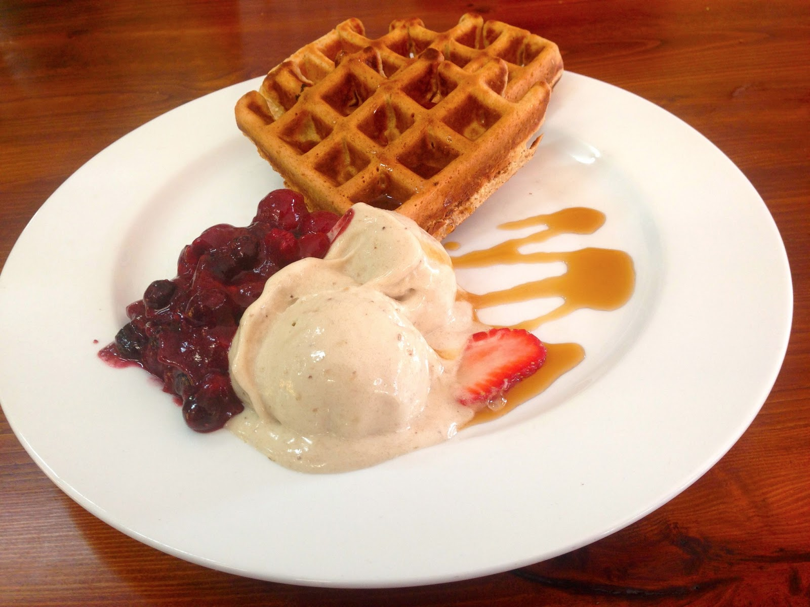 Waffles with the lot - Red Lime Shack, Port Adelaide
