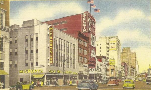 Broad Street Circa 1950s, Showing The S. Klein Store And The New Art  Moderne Facade On McCroryu0027s.