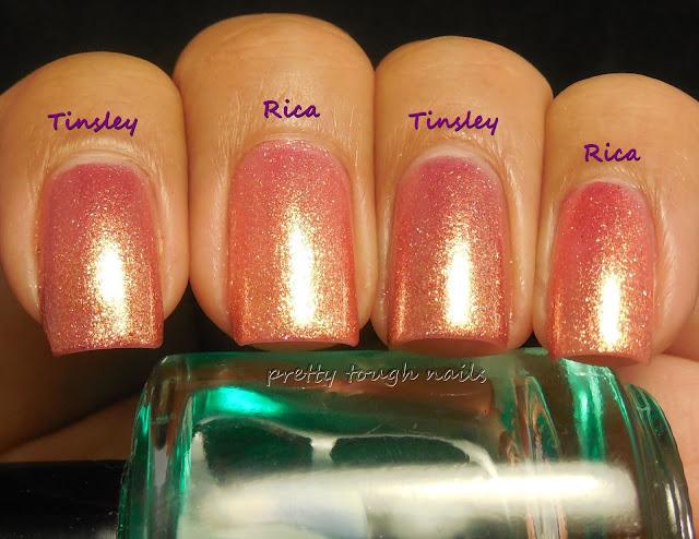 Zoya Tinsley and Rica Comparison