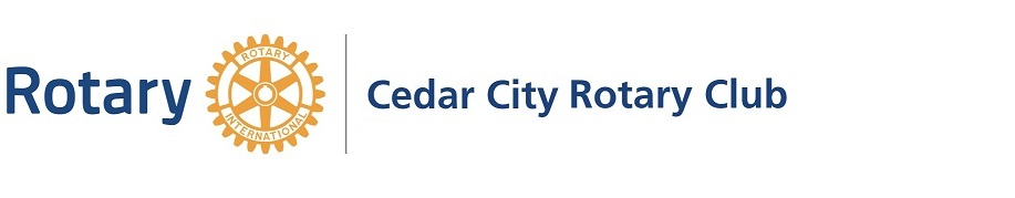 Cedar City Rotary Club service above self humanitarian donate charity car show golf veteran's park
