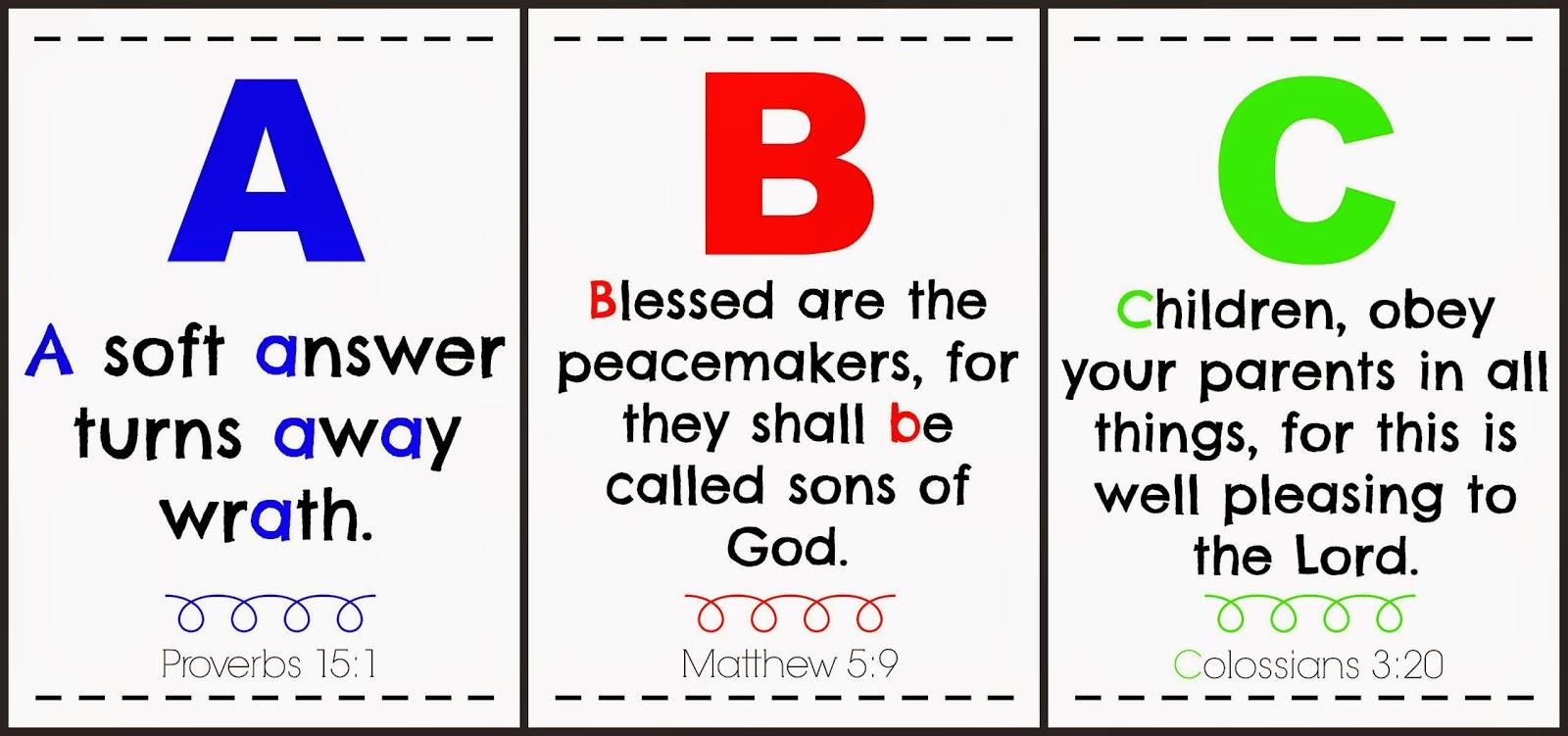 Sugarplum Cuties: ABC Bible Verse Printable