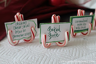 Christmas Candy Cane Place Holders