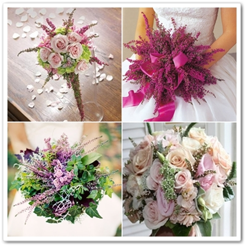 bukett ljung, wedding bouquet heather