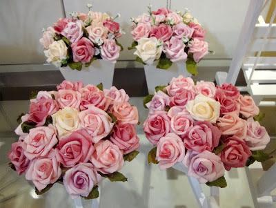 cachepôs de madeira, rosas, flores para decoração