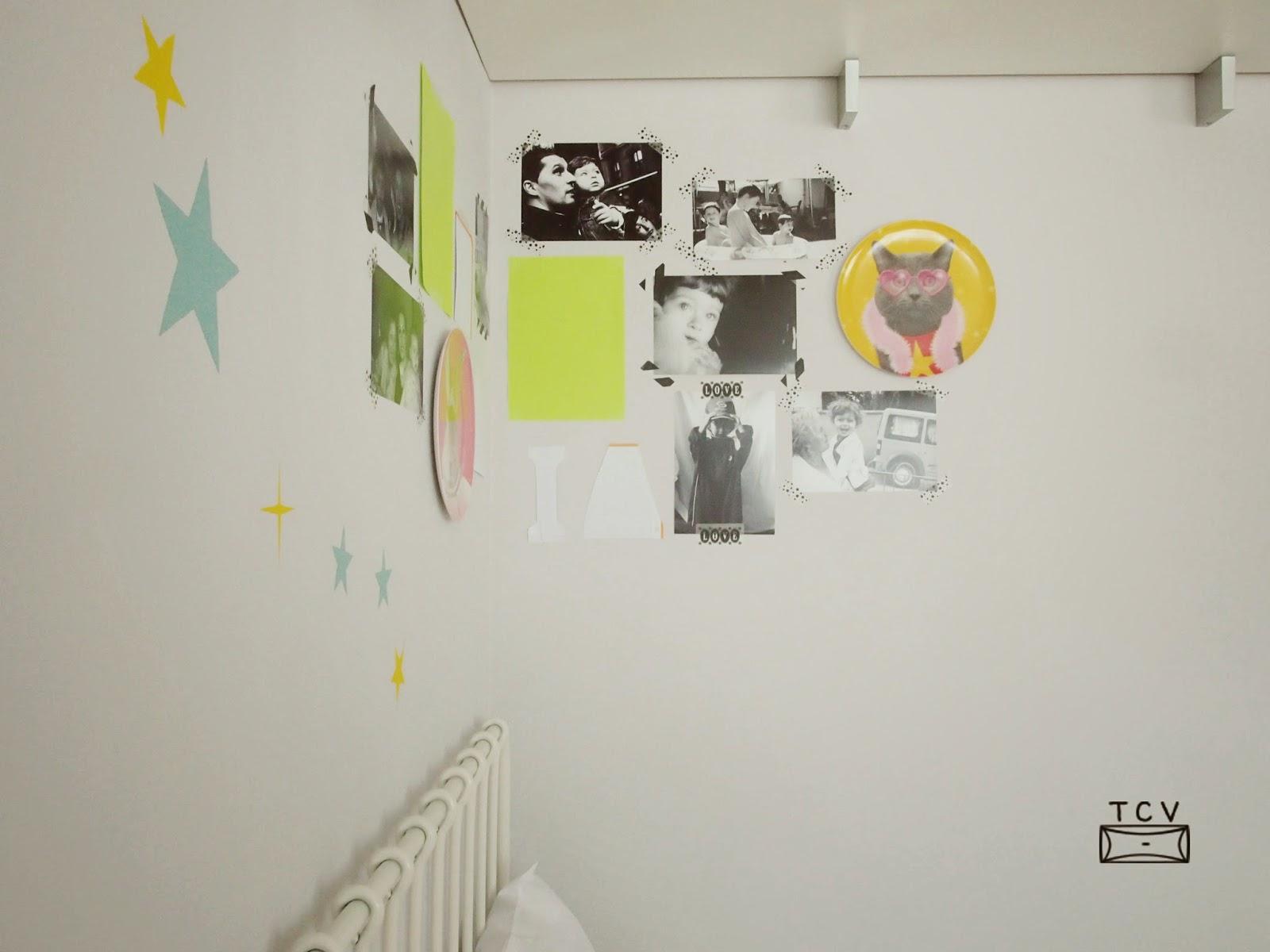 diseña un moodboard para decorar la pared