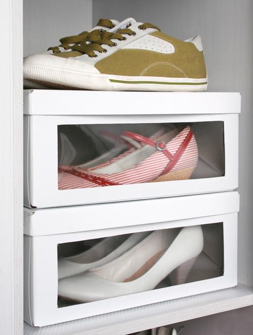 Ikea hack caja de zapatos con ventana - Guardar zapatos ikea ...