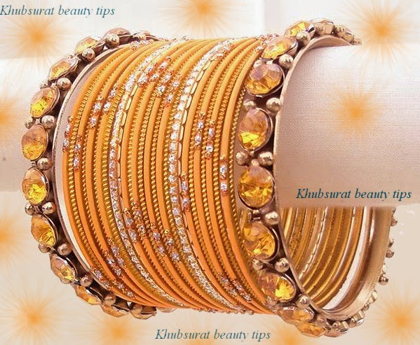 Fancy bridal bangles