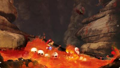 Ilustraciones e juegos de video- Mario Bros