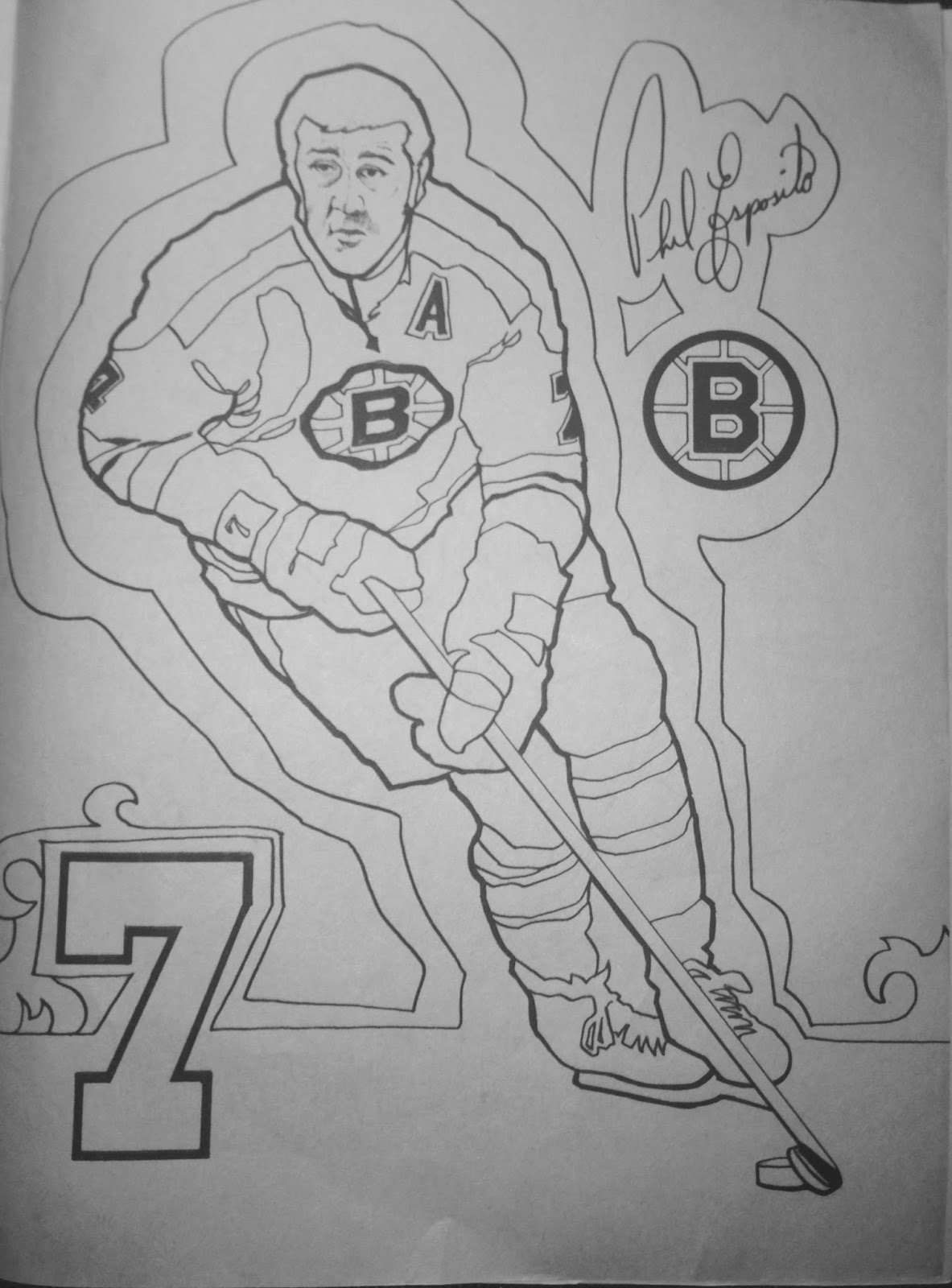 bruins coloring pages - photo#17