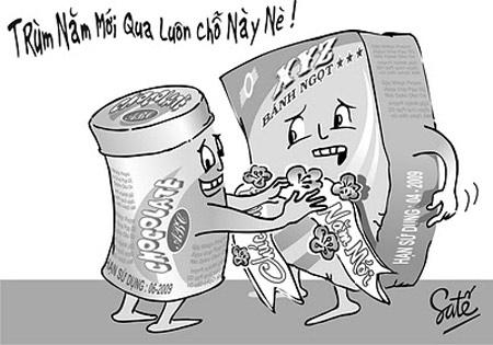 Biếm họa thực phẩm mất vệ sinh