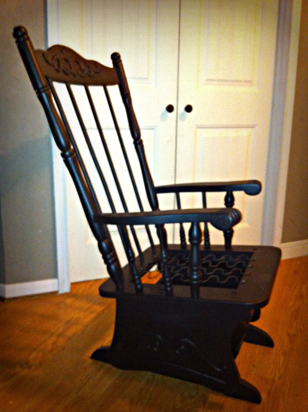 Amazing photo of Made To Love: diy Paint/Glaze Rocking Chair: with #B64E05 color and 1195x1600 pixels