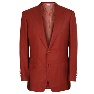 brioni cranberry red cashmere silk blazer