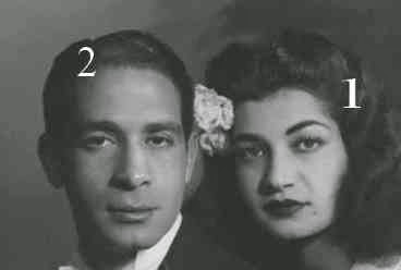 Ashraf Pahlavi  et Ahmed Chafik Bey
