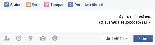 Cara Membuat Status Tulisan Terbalik di Facebook