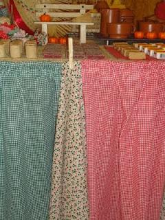 Decoração da festa junina com tecidinhos -