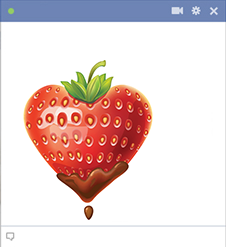 Heart-shaped strawberry icon