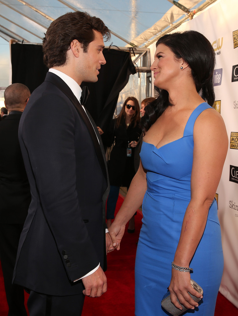 Henry Cavill Actor With Girlfriend Gina Carano | Latest Photos 2013