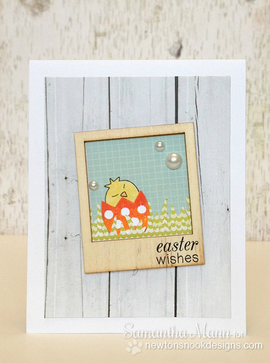 Easter card by Samantha Mann for Newton's Nook Designs - Easter Scramble Stamp set