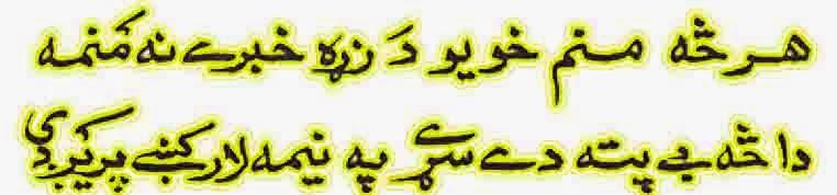 Pashto Shayari about Neema Laar