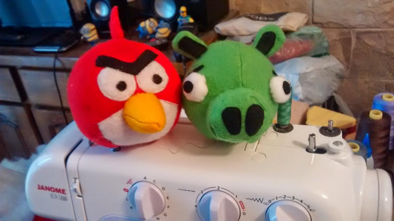 patron angry birds fieltro