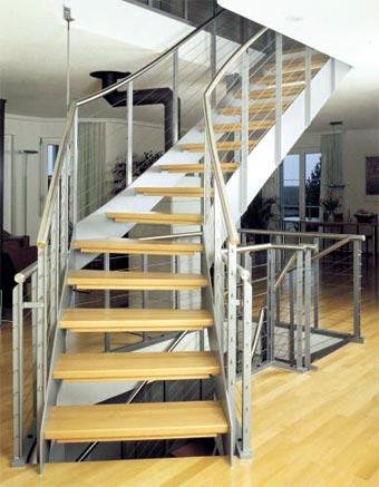 Tipos de escaleras para el interior de la casa cocinas - Tipos de escaleras de interior ...