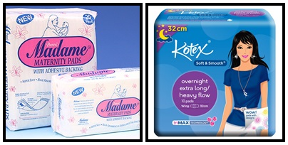 kotex maternity pads