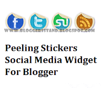 Peeling Effect Social Media Sharing Widget