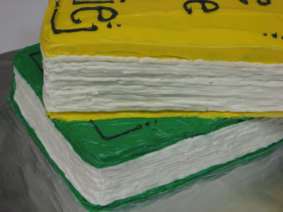 Stack of Books Cake - Close-Up of Pages