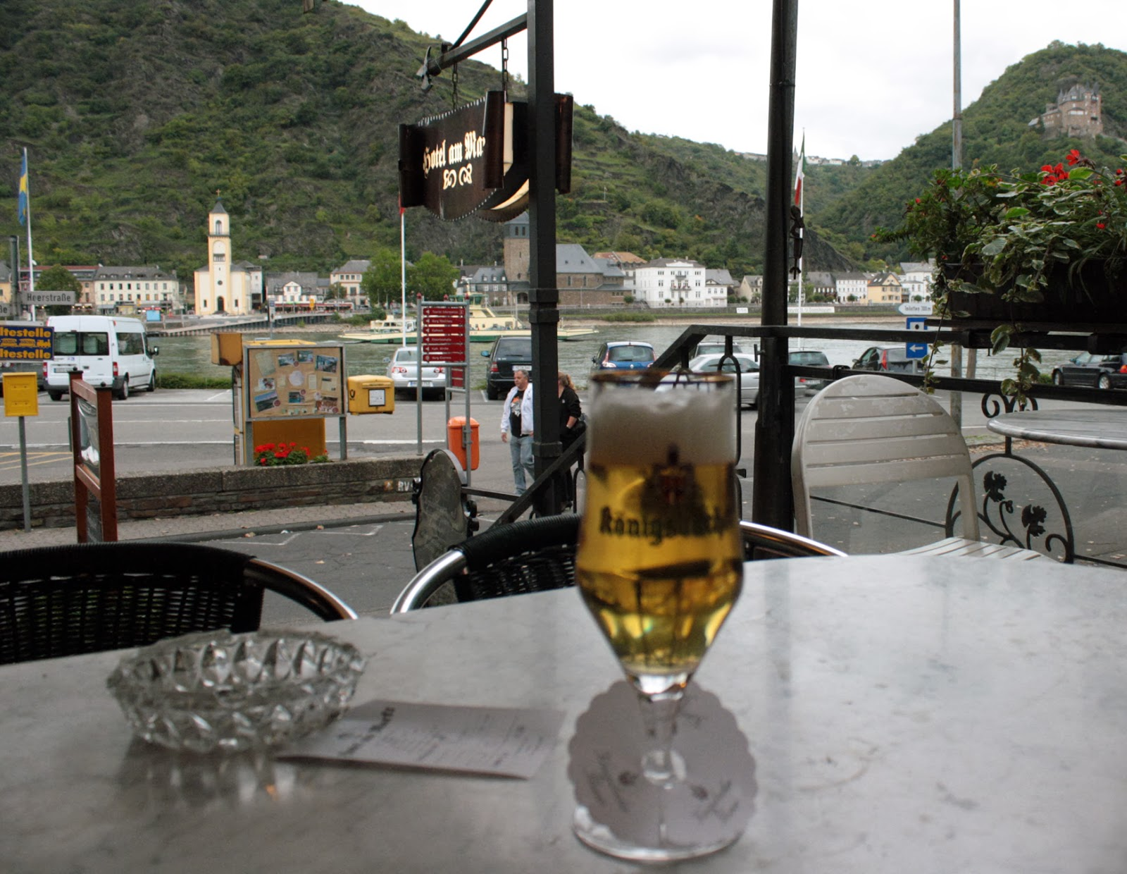 Beers on the bank of the Rhine - The Tipsy Terrier blog
