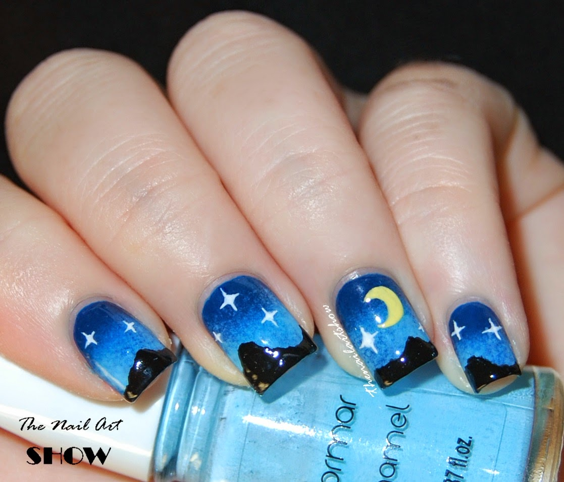 The Nail Art Show: Nail-Art-A-Go-Go Challenge - Day 10: Night Sky