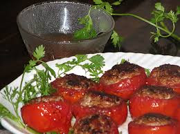 Rán cà chua nhồi thịt