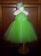 Tinkerbell Costume Tutu Dress With Matching Headband! (Or Just Pixie)