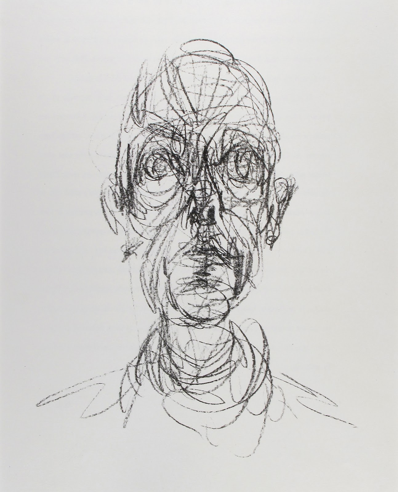 Abstract Face Line Drawing : Art john mccaughey