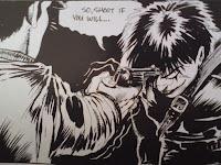 Cena da revista de histórias em quadrinhos O Corvo, de James O'Barr