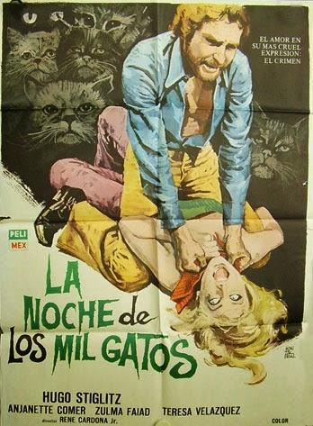 """Les recomendamos esta singular película de 1972 dirigida por René Cardona Jr. """"La noche de los Mil gatos"""""""