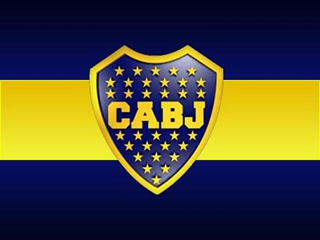 Wallpaper .Bandera del Club Atlético Boca Juniors con el Escudo en el