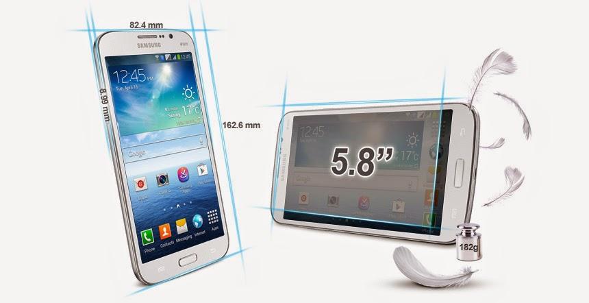 "Fitur dan Spesifikasi Samsung Galaxy Mega 5.8"" GT-I9152"