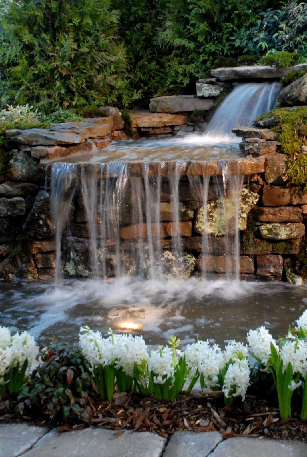 Arte y jardiner a jardin acu tico for Fuentes para jardines pequenos