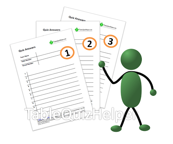 Table quiz helper blank table quiz answer sheets with for Table quiz rounds