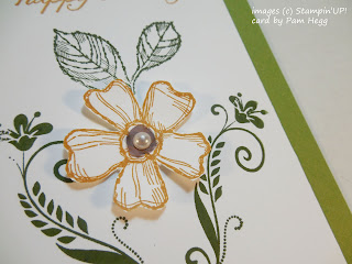 Card made with Stampin'UP!'s Birthday Blossom  and Flowering Flourishes stamp sets