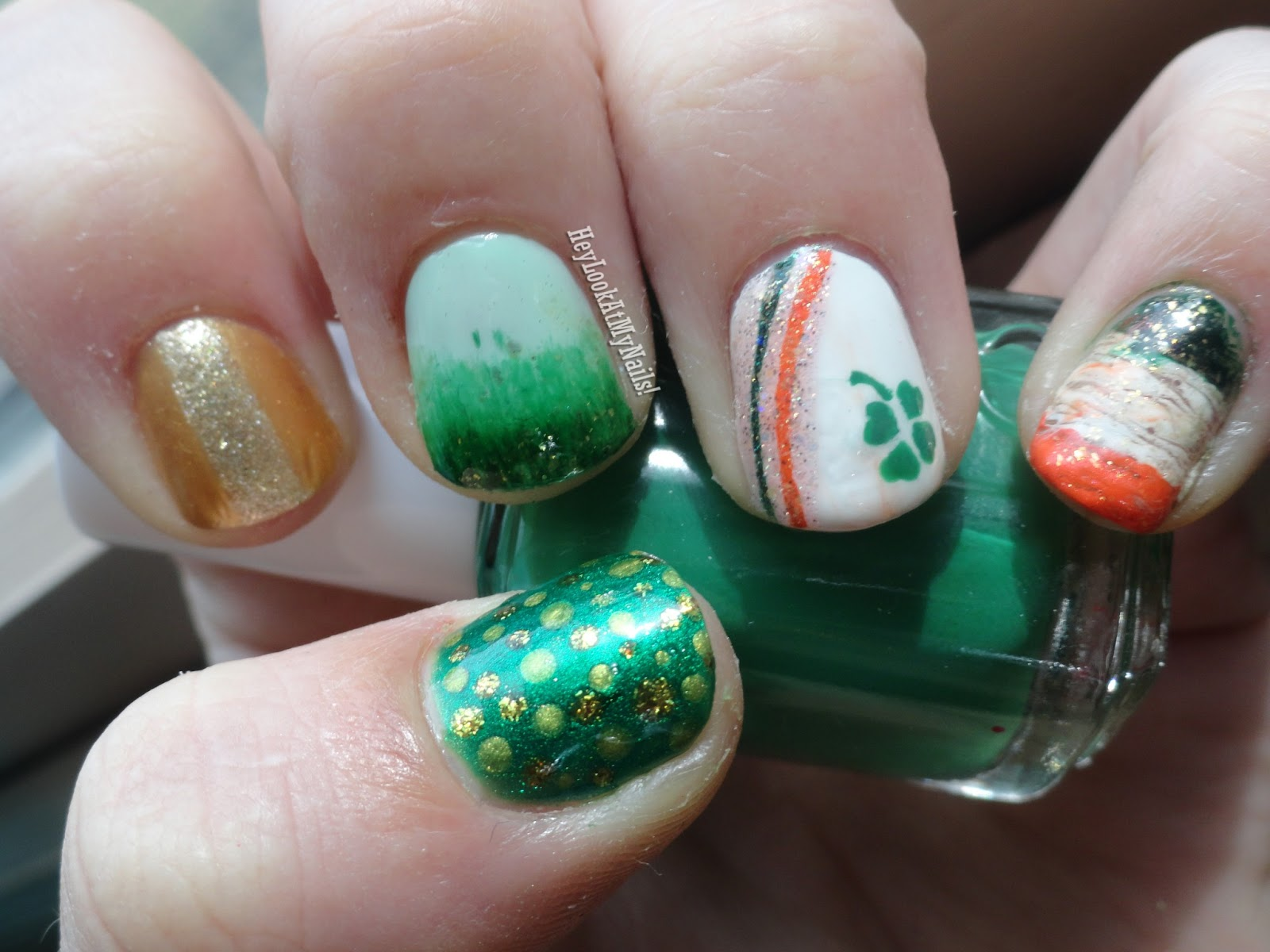 Hey, Look At My Nails!: St. Patty\'s Day Mani + Gelous Advanced Nail ...