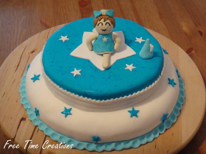Free time creations torta cheerleader for Decorazione torte ginnastica ritmica