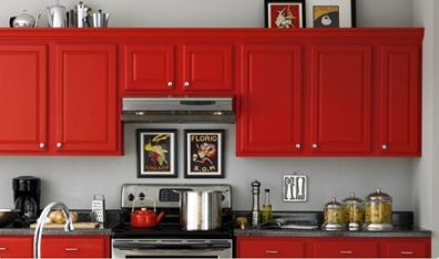Cabinets for Kitchen: Antique Red Kitchen Cabinets