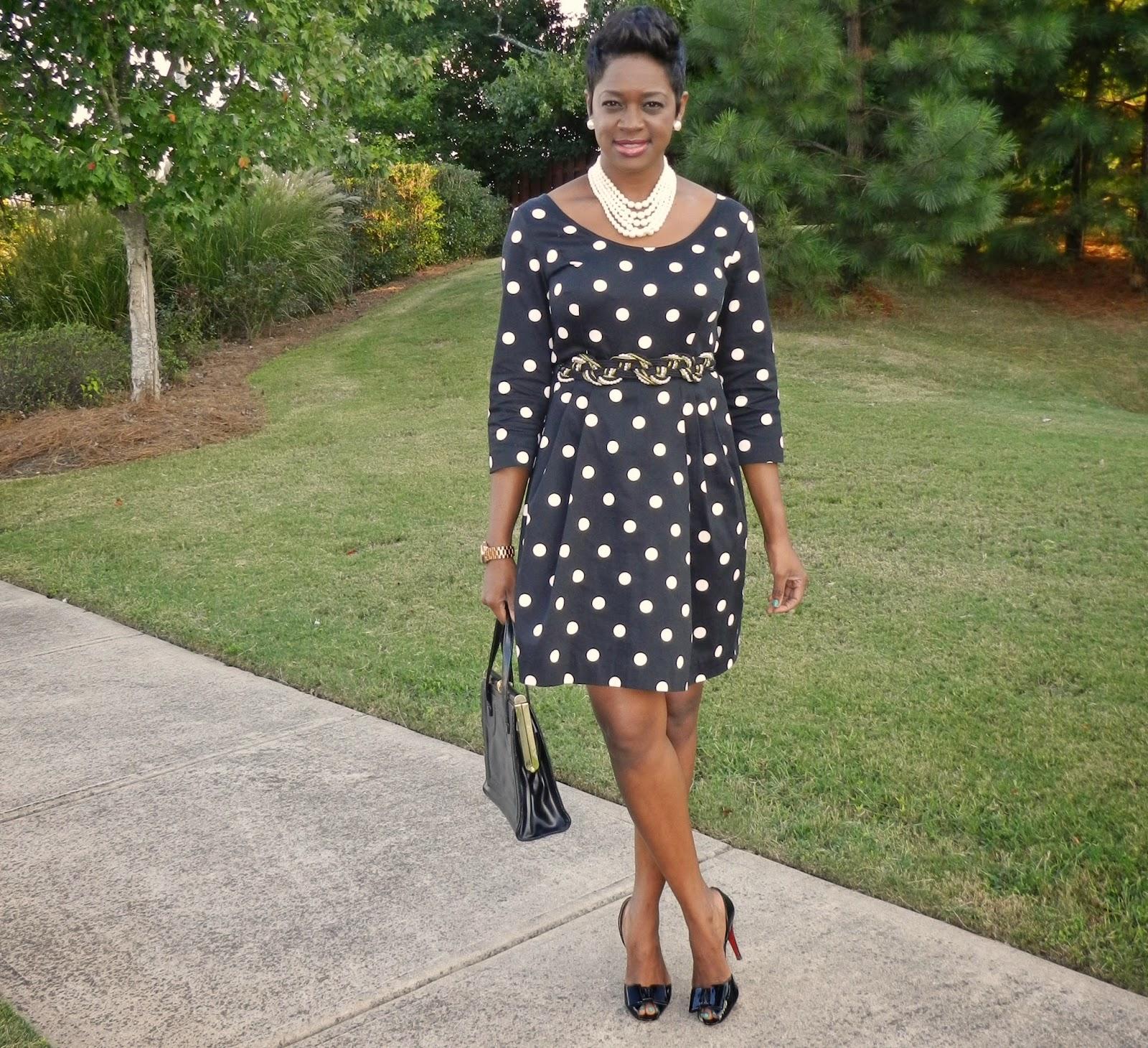 Two Stylish Kays: Thrift Sisters Link Up: Polka Dots - photo#41